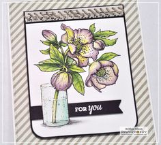 Hellebores Digital Stamp Set | Power Poppy by Marcella Hawley