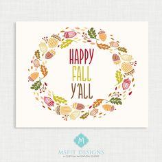 Fall Wall Art fall print - autumn wall decor- fall poster - fall wall art