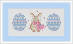 Cross Stitch Download  Easter  BunnyPDF Full by Annieinstitches, $4.75