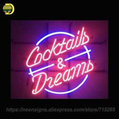 Neon Znak do koktajli MARZENIA Ręcznie Udekorować Żarówki Światła do Sklepu Wyświetlacz Neon Neon Znaki Znak Szyldy NIESTANDARDOWE logo(China (Mainland))