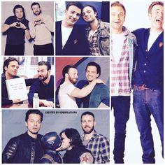 Sebastian ⭐️ Stan and Chris Evans created by Kimberlydyan