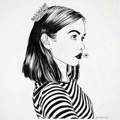 Cute Drawing Of A Girl With Short Hair Art In 2019 Pinterest