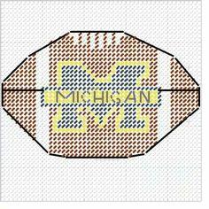 Michigan football Plastic Canvas Christmas, Plastic Canvas Crafts, Plastic Canvas Patterns, Football Canvas, Football Wall, College Football, Tissue Box Covers, Tissue Boxes, Football Crafts