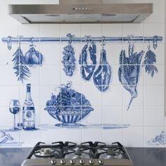 tegeltableaus Trompe L'oeill in Delfts Blauw 1000graden 1