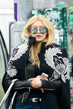 Gigi Hadid. Get the Look! My Girl Sunglasses by Quay.