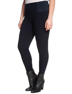 pomme rouge black zip-cuff leggings - plus too | edgy style