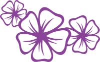 Three Plumeria Flowers Sticker https://www.carstickers.com/Bird_of_Paradise_Flower_Car_Stickers_and_Decals.php