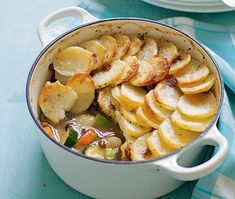 healthy recipe for vegetarian hotpot with potatoes, butterbeans, courgettes, lentils, red pepper and carrots