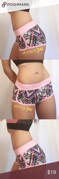 """Pink letter boyshort multi color rare pantie •no trades 🚫 •SHIPS TOMORROW💋  •Brand new! Sizes available listed below -   Super cute super soft and comfy this is one off their brand new sold out boyshorts   🎀visit """"Closet Rules"""" for more info - Timeless Look Men @timelesslookmen NOW OPEN more info in closet 💕 PINK Victoria's Secret Intimates & Sleepwear Panties"""