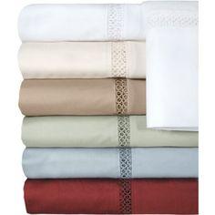 Veratex Princeton Collection 500-Thread Count Bedding Sheet Set, Green