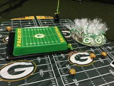 Green Bay Packers Football Cake and Cookies