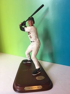 DANBURY MINT CAL RIPKEN JR ALL STAR FIGURINE STATUE ORIOLES HOF GOLD AUTO STAND