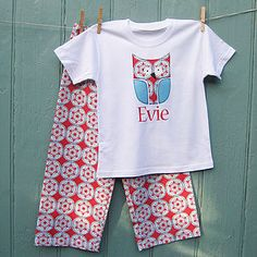Christmas Personalised Nordic Owl Pyjama Set