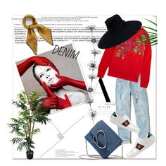 """""""Denim Jeans & Gucci"""" by guccichy on Polyvore featuring art"""