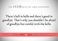 hell - hello and good - bye.