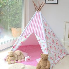 pink floral wigwam by little ella james | notonthehighstreet.com