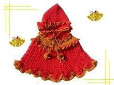 Easy to Make AMAZINGCROCHET Jingle Bell Poncho Bonnet   http://www.etsy.com/listing/58659517/easy-to-make-amazingcrochet-jingle-bell