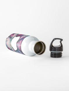'Nebula 1 Scrunchie' Water Bottle by AElenaS Water Bottle Design, Stainless Steel Bottle, Transparent Stickers, Sell Your Art, Scrunchies, Rings For Men, Mugs, Stuff To Buy, Men Rings