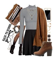 """first day of college outfit :)"" by xkitten-pokerx ❤ liked on Polyvore featuring Happy Plugs, Mulberry, ASOS, Boohoo, Forever 21, Squair, Retrò, Charlotte Russe, Iosselliani and Anna Sheffield"