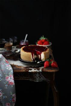 Merceditas Bakery: Tarta de queso con salsa de frutos rojos