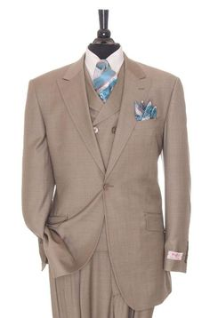 Super 150's #wool #3 piece #taupe #suit. Only $795