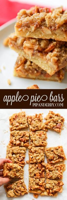 Apple Pie Bars - apple pie without the hassle! These are incredibly delicious and the perfect fall treat.