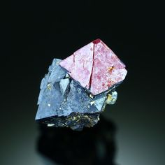♛NEW! Translucent Red Ruby CUPRITE, Rubtsovskoe Mine, Rudnyi Altai RUSSIA PM7-18