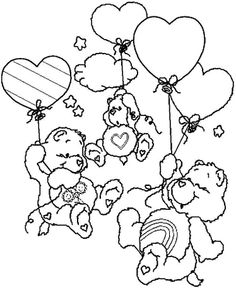 care bear valentines coloring pages-#46