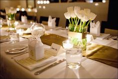 Simple and Elegant Wedding Table Decor