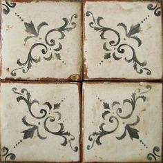 tabarka studio - Nord 6 4x4 $7.03 per tile.  Behind stove and fireplace