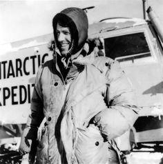 Edmund Hillary in Antarctica