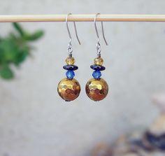 92,5 Sterling Silver light earrings with gemstone. Handmade. http://stores.ebay.ie/SilverTrend4U?_rdc=1