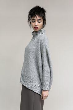 Модный свитер и жакет 2015 - 2016 года Haven свободного силуэта с ажурными резинками.