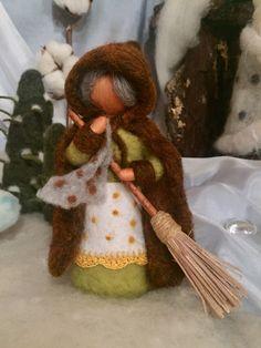 Ya está llegando la Sra. del Deshielo, dispuesta a ir barriendo la nieve.