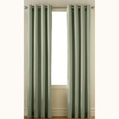 Curtainworks Sailcloth Sage Cotton Canvas Grommet Curtain-1Q80210GSG at The Home Depot