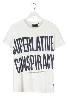 WeSC - BIGGEST MESSAGE - T-Shirt print - winter white