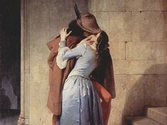From Caravaggio to Hayez, passing through Giotto, Rodin, Canova and Magritte, the kiss as an interpretation . Italian Paintings, Classic Paintings, Caravaggio, Rock Hand, Most Beautiful Words, Magritte, Rodin, Photo Black, Old Master