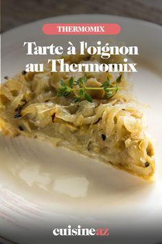 La tarte à l'oignon est un classique de la cuisine française. Envie de la réaliser avec votre robot Thermomix ? Suivez notre recette. #recette#cuisine#robotculinaire#thermomix #tarte#oignon Robot Thermomix, Pizza, Onion Tart, Grated Cheese, Onions, Tarts, Cooking Recipes, Cooking Food, Brot