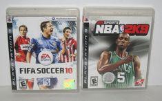 Lot of 2 PS3 Video Games w/manuals 2K Sports NBA 2K9 & FIFA Soccer 10 EA Sports