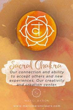 Our Sacral Chakra representsour connection and ability to accept others and new experiences It is our creativity and creation center. Location: Lower abdomen, about 2 inches below the navel and 2 inches in Emotional issues: Sense of abundance, well-being, pleasure, sexuality, creativity Color: Orange Element: Water Animal totem: Jaguar Organs and body parts: Reproductive system …