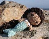 Crochet Pattern Mere the little mermaid amigurumi doll di Owlishly