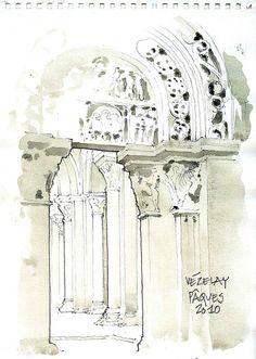 Vézelay, narthex, portail latéral by gerard michel, via Flickr