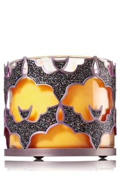 Glitter Bats 3-Wick Candle Sleeve - Go batty for Halloween with a glittering sleeve for your favorite 3-Wick!