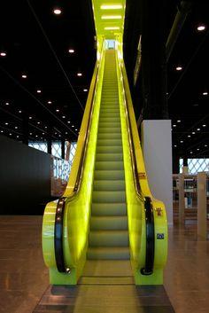 Seattle Public Library escalator