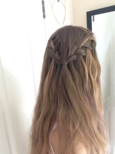 -Waterfall braid half up-