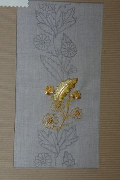 This Pin was discovered by Алл Tambour Beading, Tambour Embroidery, Couture Embroidery, Gold Embroidery, Hand Embroidery Designs, Embroidery Stitches, Embroidery Patterns, Sewing Patterns, Lesage