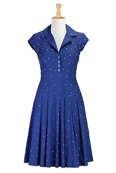 eShakti Dotted retro poplin shirtdress.  This site has the power to awaken such covetousness in me, its scary.
