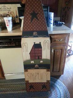 Beautiful painted ironing board