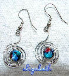 Intersting earrings to make with one cool bead