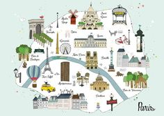 paris city map for children paris plan amlie biggs
